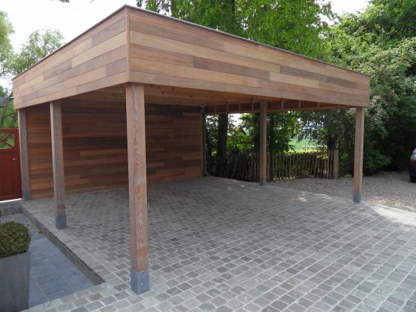 Carport design en bois carport un carport en bois - Construire un carport ...